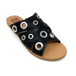 DV Dolce Vita Grommet Accented Slide Sandals